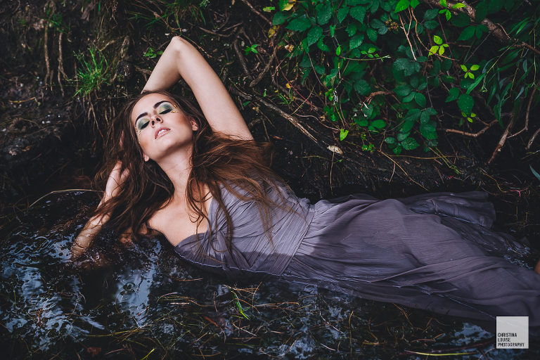 Model Shooting Wasser by Christina Louise Photography